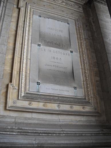 Inaguración Palacio de Justicia Bruselas.